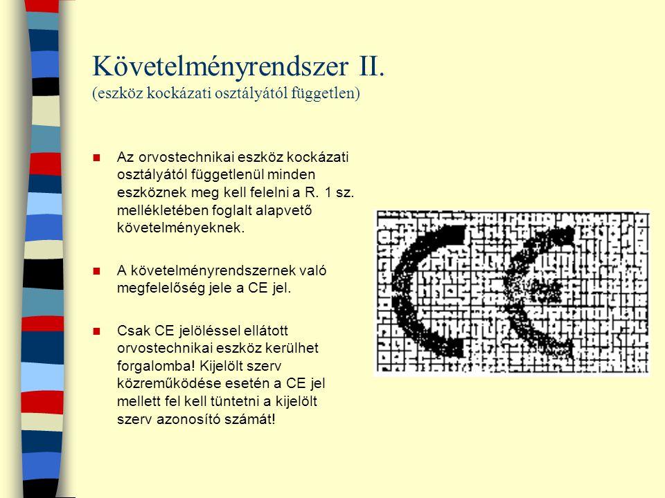 Követelményrendszer II. (eszköz kockázati osztályától független)