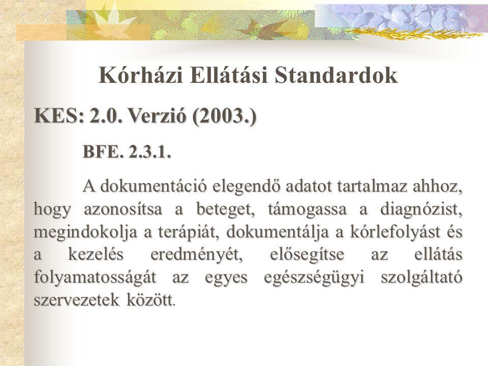 Kórházi Ellátási Standardok
