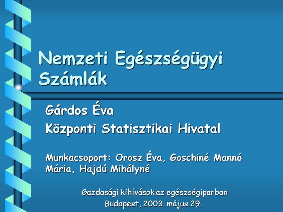 Nemzeti Egészségügyi Számlák
