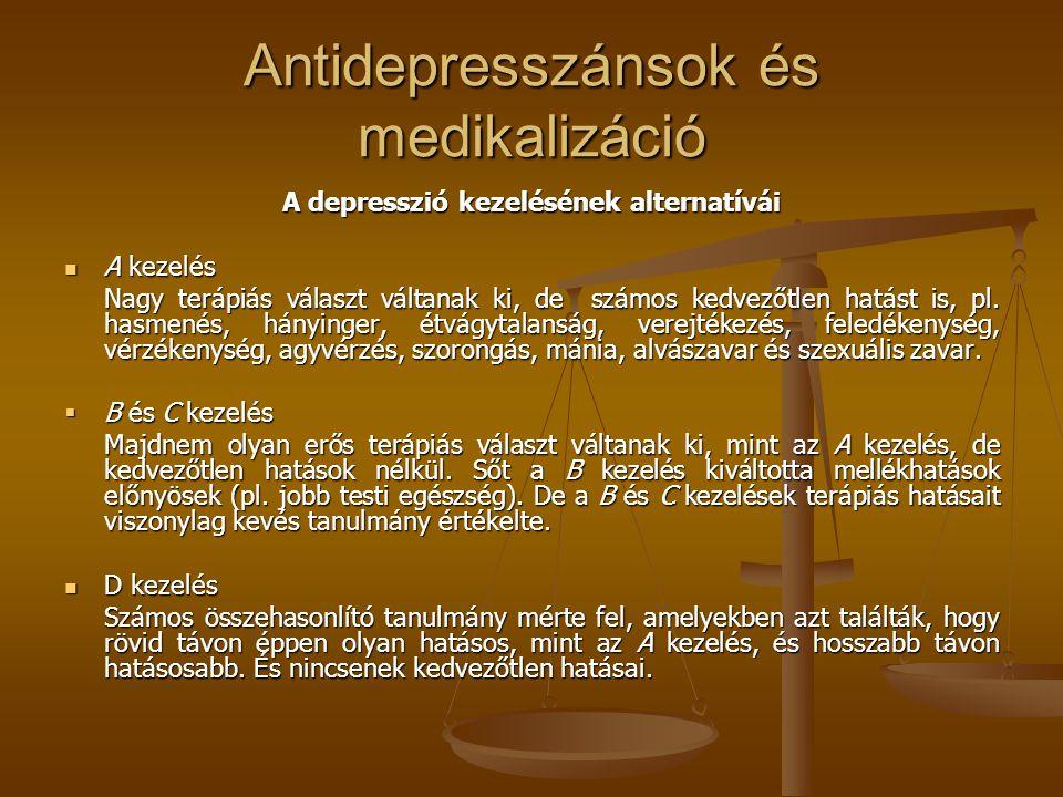 Antidepresszánsok és medikalizáció