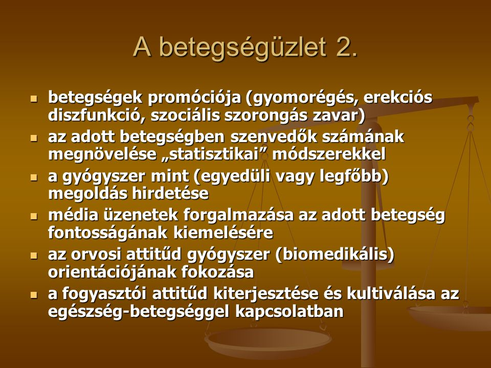 A betegségüzlet 2. betegségek promóciója (gyomorégés, erekciós diszfunkció, szociális szorongás zavar)