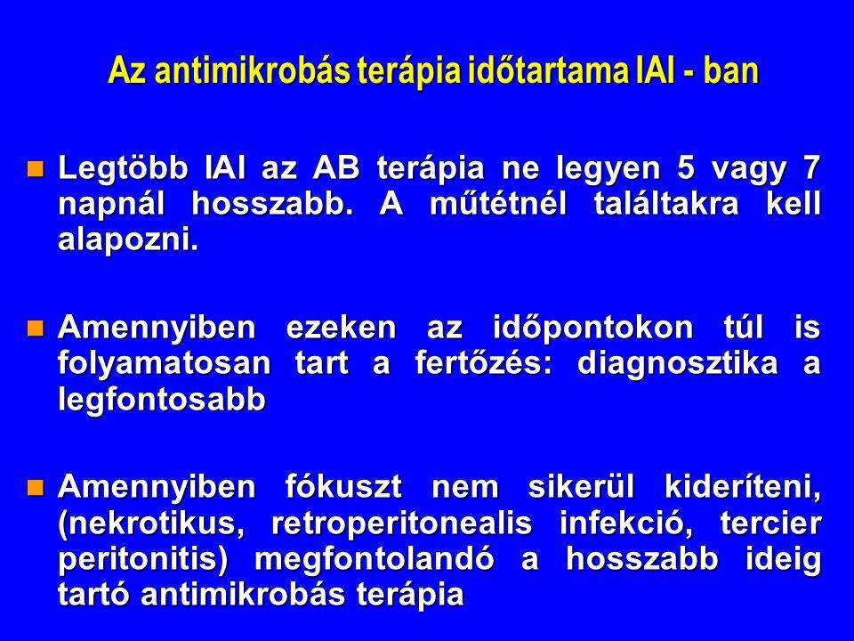 Az antimikrobás terápia időtartama IAI - ban