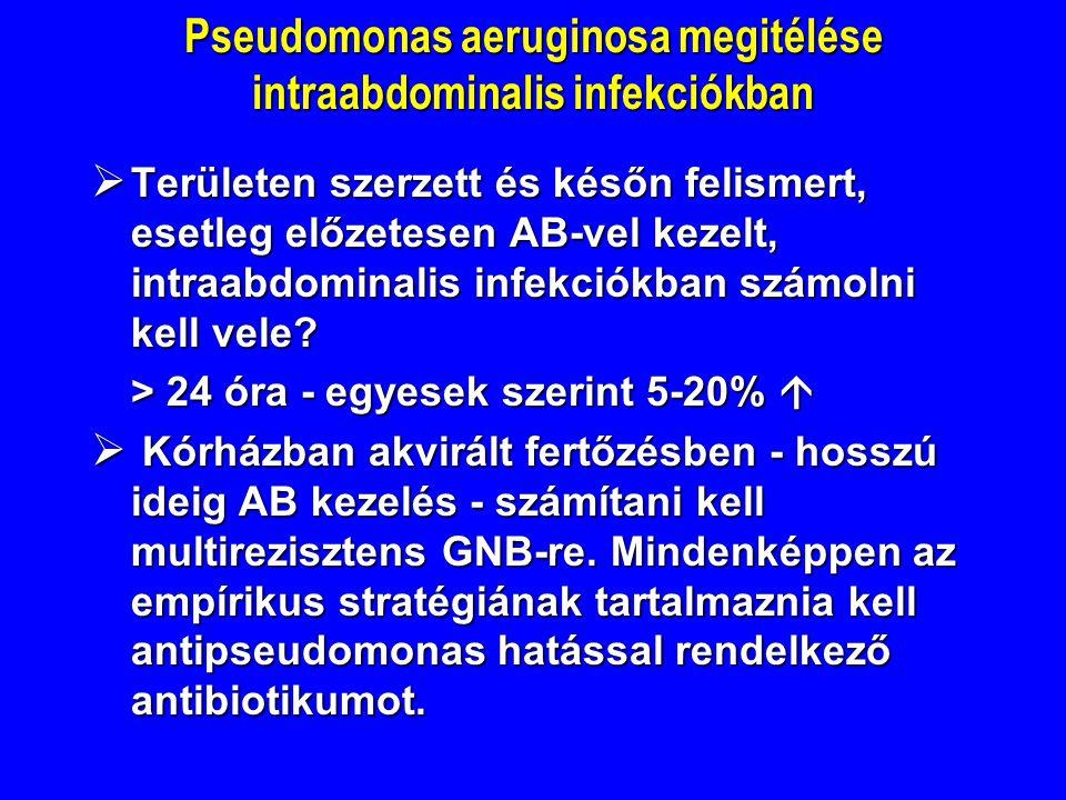 Pseudomonas aeruginosa megitélése intraabdominalis infekciókban