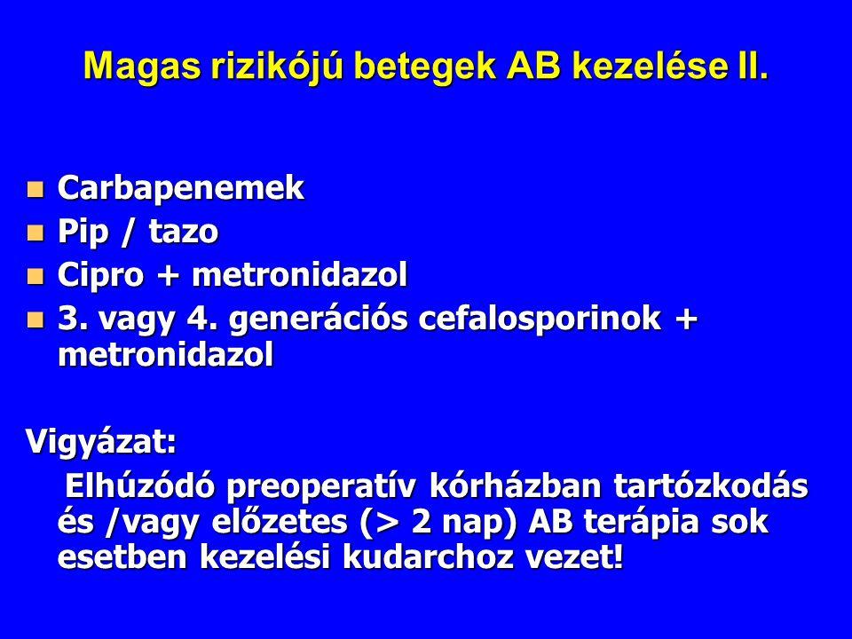 Magas rizikójú betegek AB kezelése II.