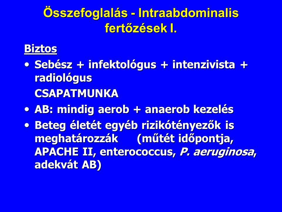 Összefoglalás - Intraabdominalis fertőzések I.
