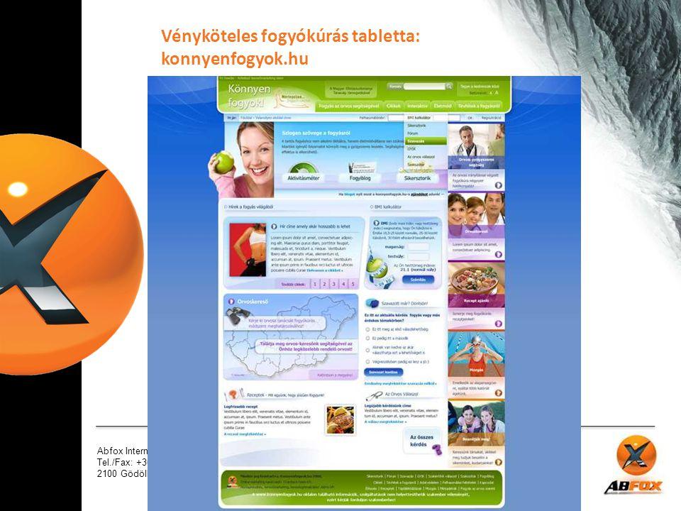 Vényköteles fogyókúrás tabletta: konnyenfogyok.hu