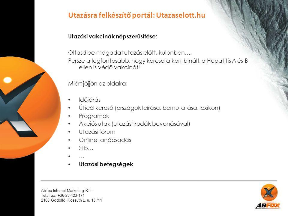 Utazásra felkészítő portál: Utazaselott.hu