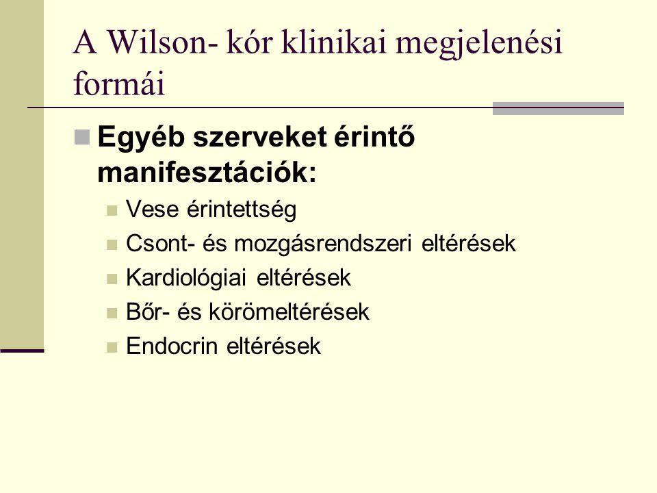 A Wilson- kór klinikai megjelenési formái