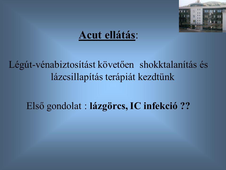 Első gondolat : lázgörcs, IC infekció