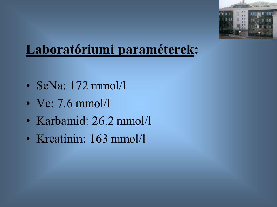 Laboratóriumi paraméterek: