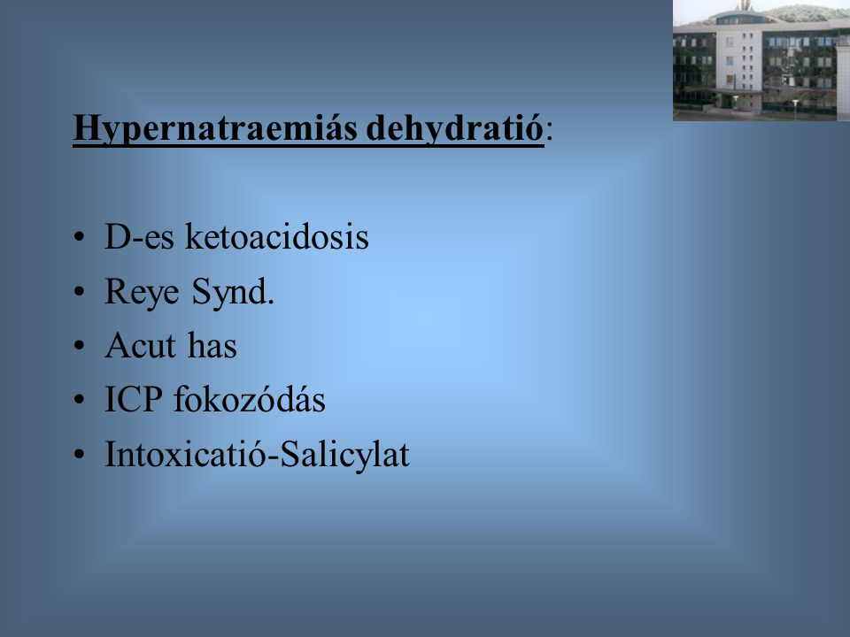 Hypernatraemiás dehydratió: