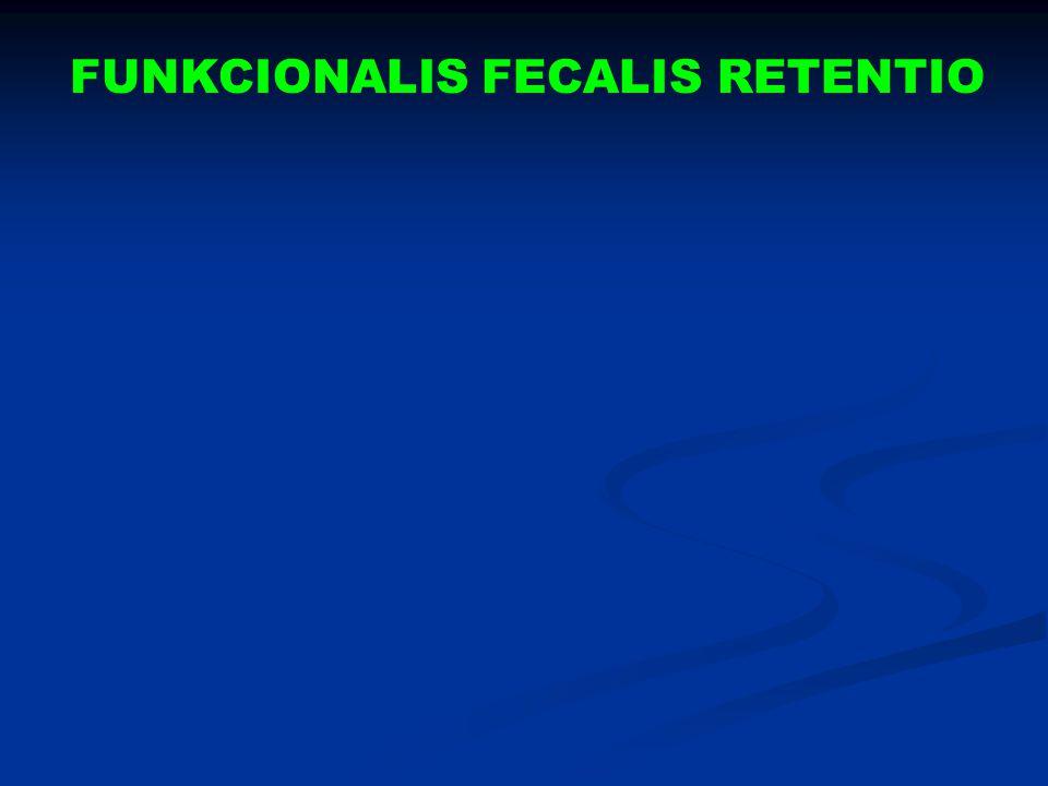 FUNKCIONALIS FECALIS RETENTIO