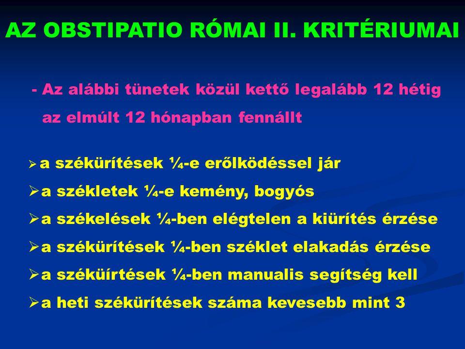 AZ OBSTIPATIO RÓMAI II. KRITÉRIUMAI
