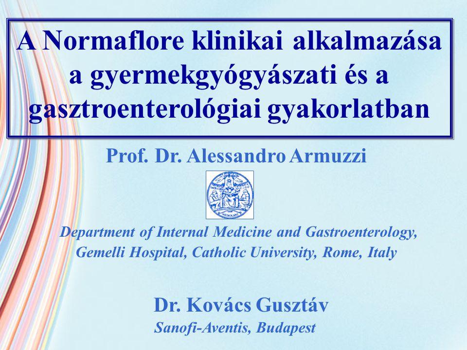 A Normaflore klinikai alkalmazása a gyermekgyógyászati és a gasztroenterológiai gyakorlatban