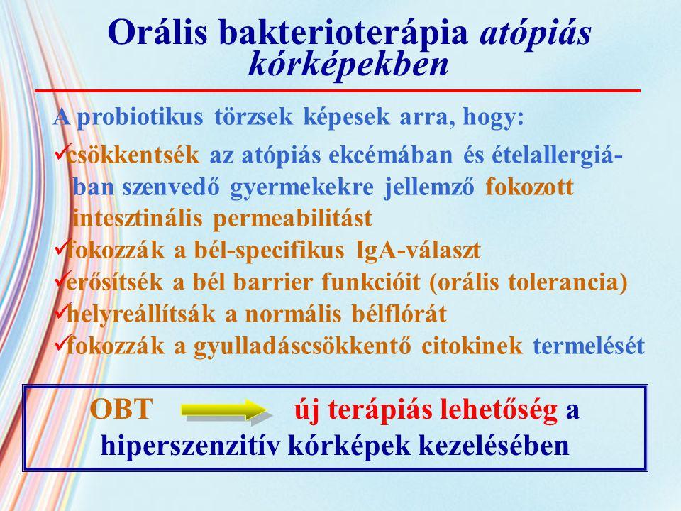 Orális bakterioterápia atópiás kórképekben