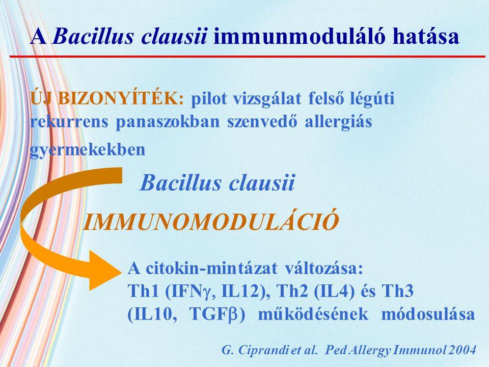 A Bacillus clausii immunmoduláló hatása