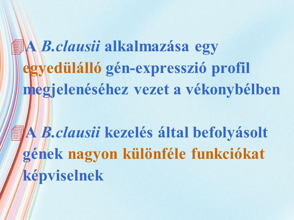 A B.clausii alkalmazása egy