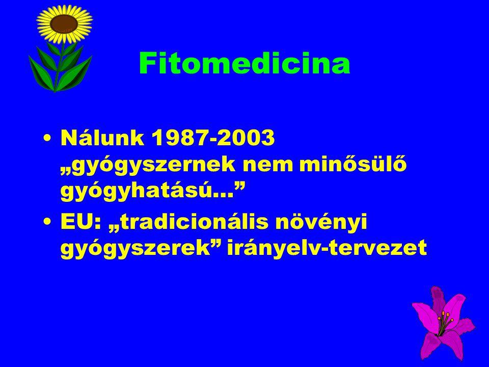 """Fitomedicina Nálunk 1987-2003 """"gyógyszernek nem minősülő gyógyhatású…"""