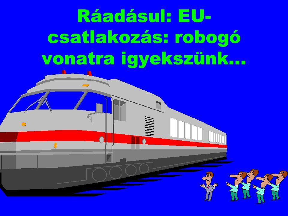 Ráadásul: EU-csatlakozás: robogó vonatra igyekszünk...