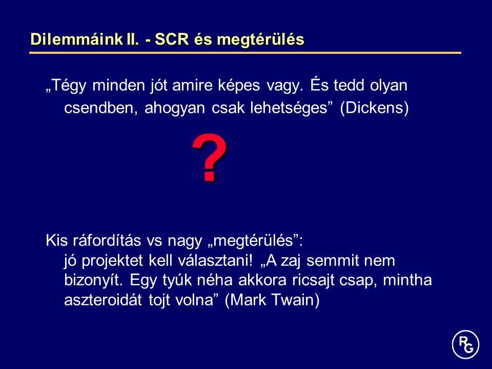 Dilemmáink II. - SCR és megtérülés