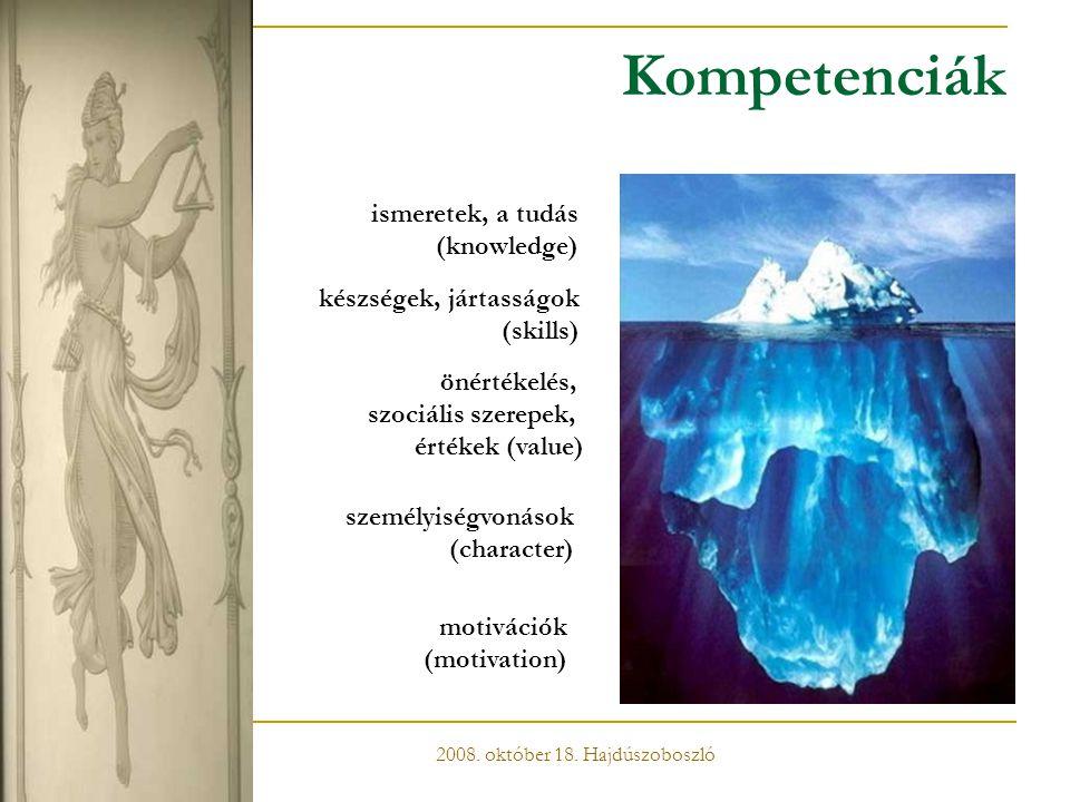 Kompetenciák ismeretek, a tudás (knowledge) készségek, jártasságok