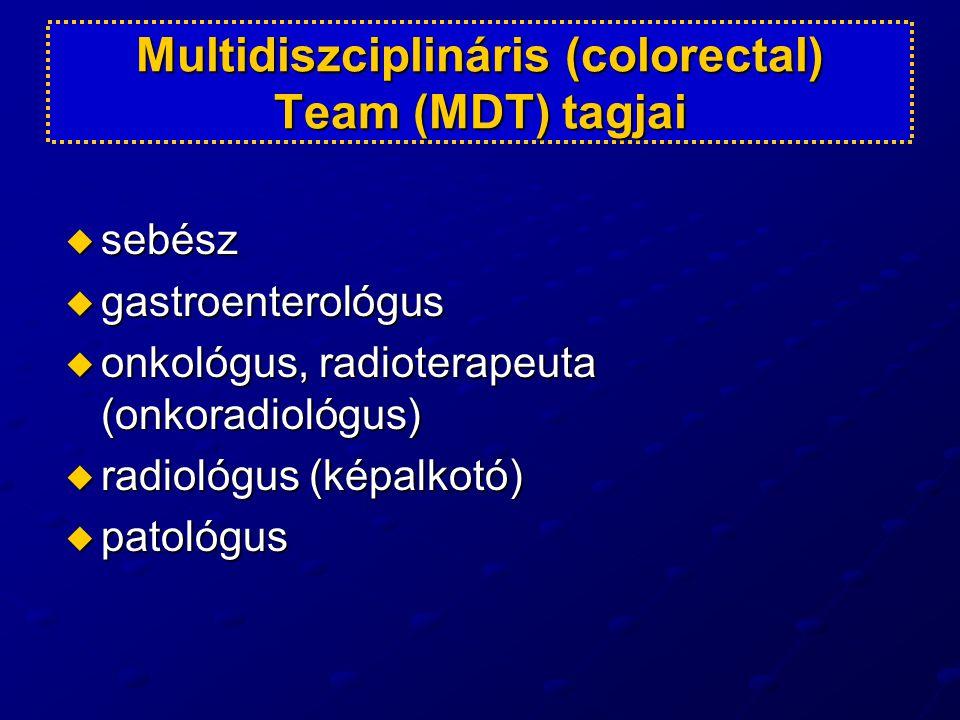 Multidiszciplináris (colorectal) Team (MDT) tagjai