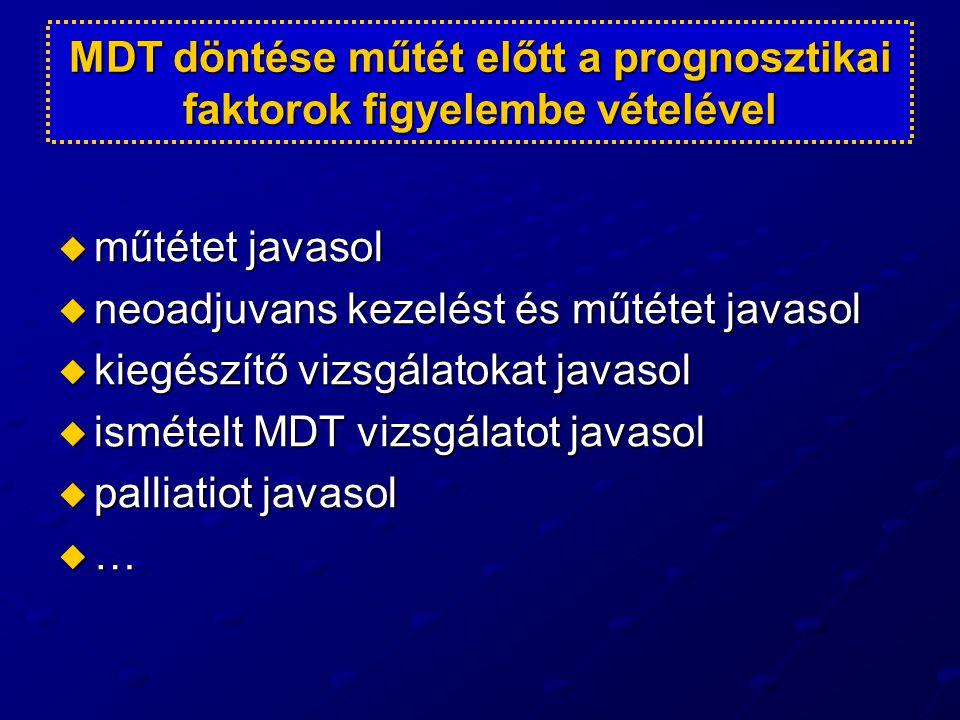 MDT döntése műtét előtt a prognosztikai faktorok figyelembe vételével