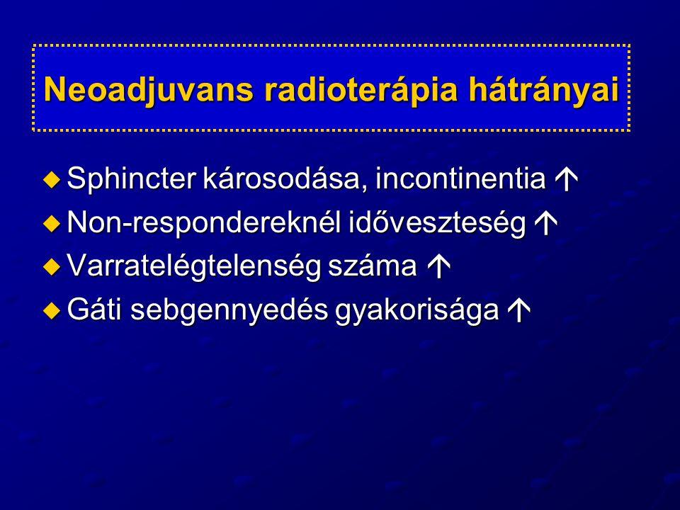 Neoadjuvans radioterápia hátrányai