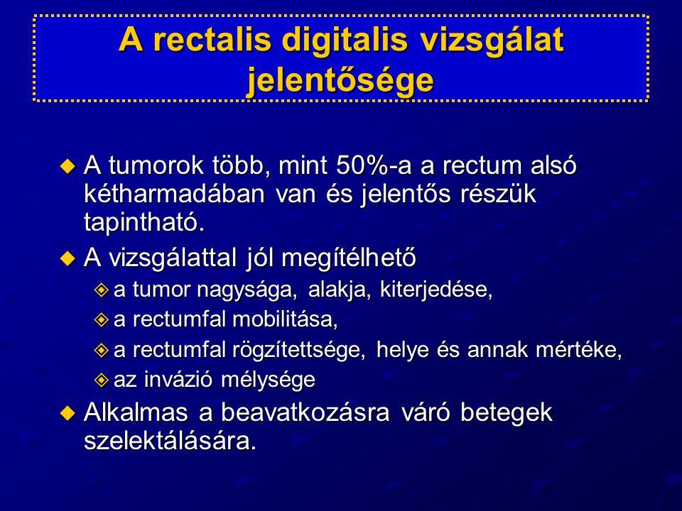 A rectalis digitalis vizsgálat jelentősége