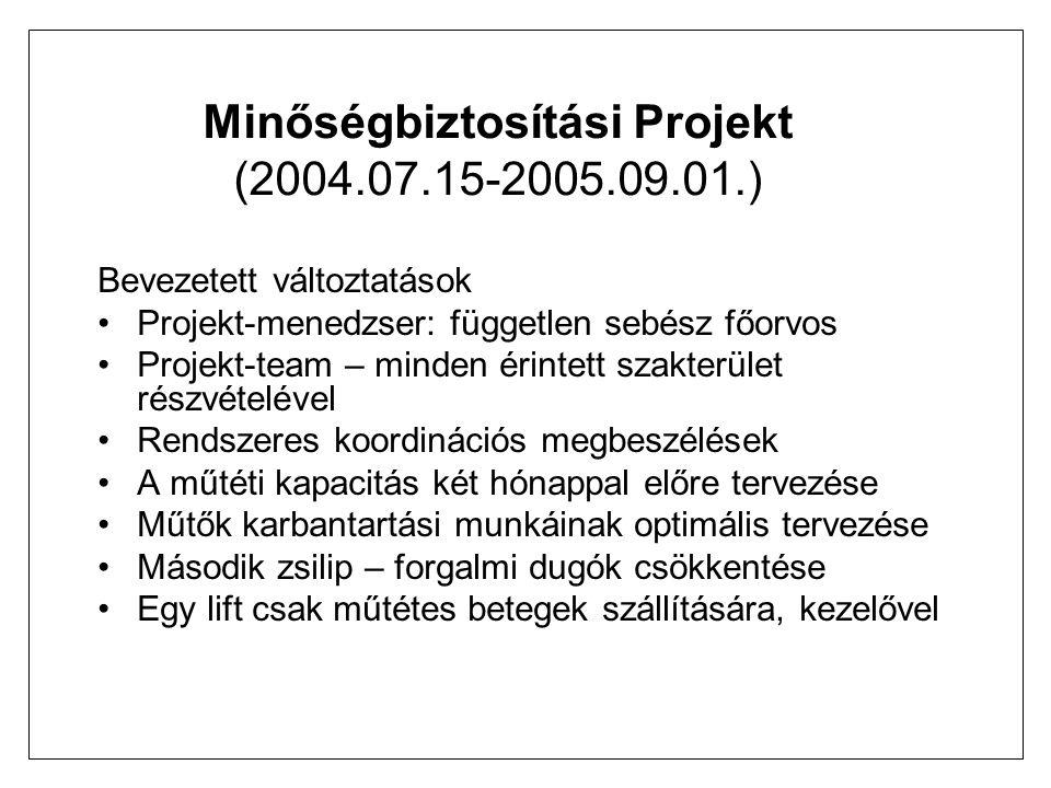 Minőségbiztosítási Projekt (2004.07.15-2005.09.01.)