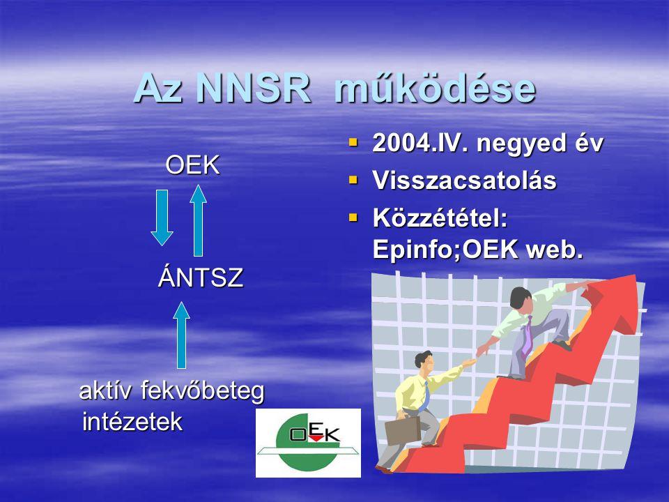 Az NNSR működése 2004.IV. negyed év Visszacsatolás OEK