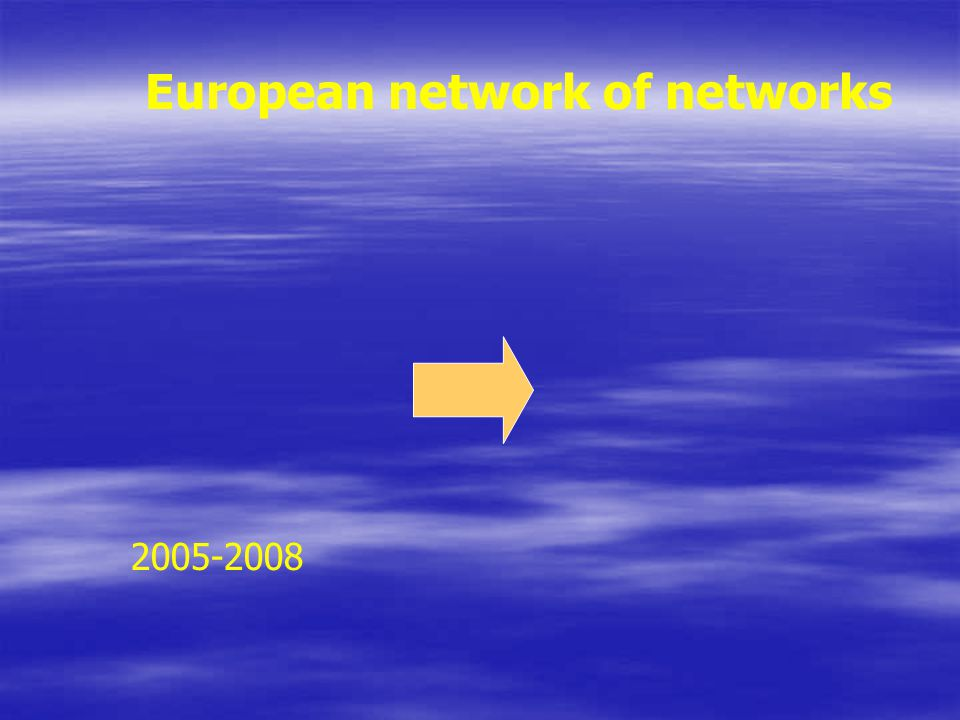 European network of networks