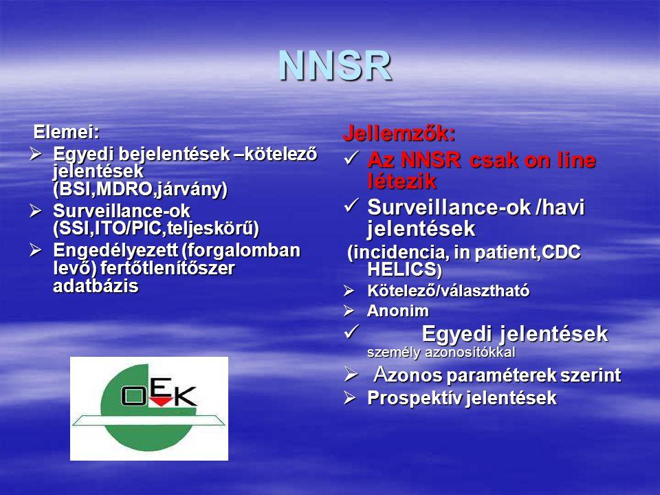 NNSR Jellemzők: Az NNSR csak on line létezik