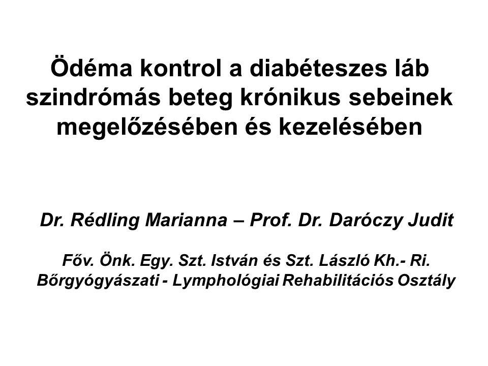Ödéma kontrol a diabéteszes láb szindrómás beteg krónikus sebeinek megelőzésében és kezelésében