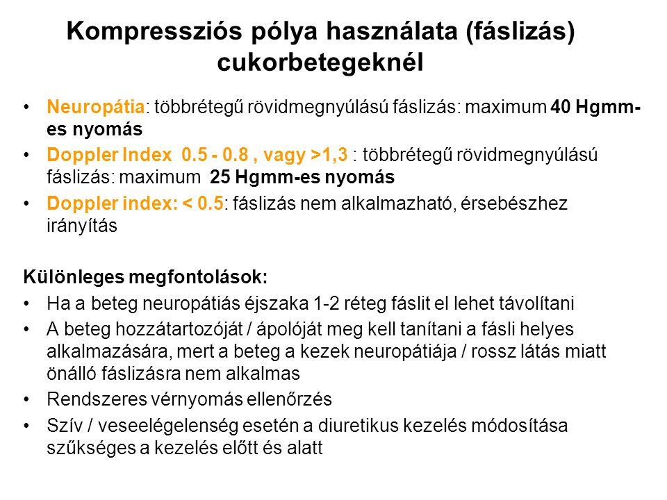 Kompressziós pólya használata (fáslizás) cukorbetegeknél