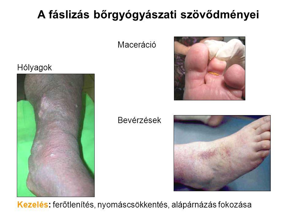 A fáslizás bőrgyógyászati szövődményei