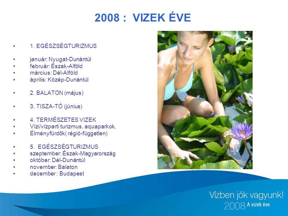 2008 : VIZEK ÉVE 1. EGÉSZSÉGTURIZMUS január: Nyugat-Dunántúl