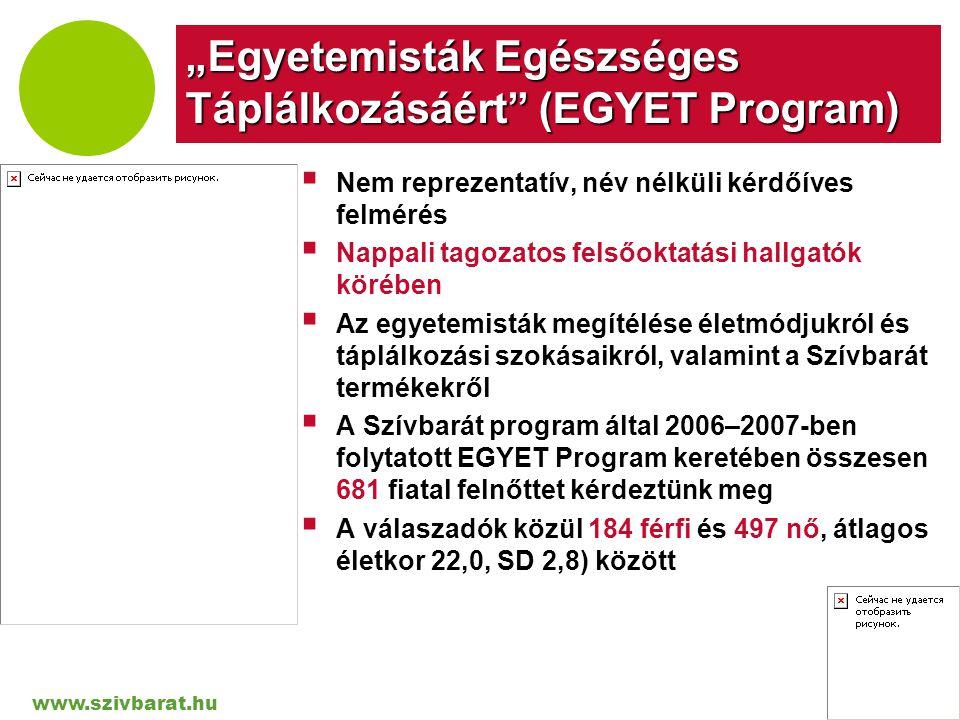 """""""Egyetemisták Egészséges Táplálkozásáért (EGYET Program)"""