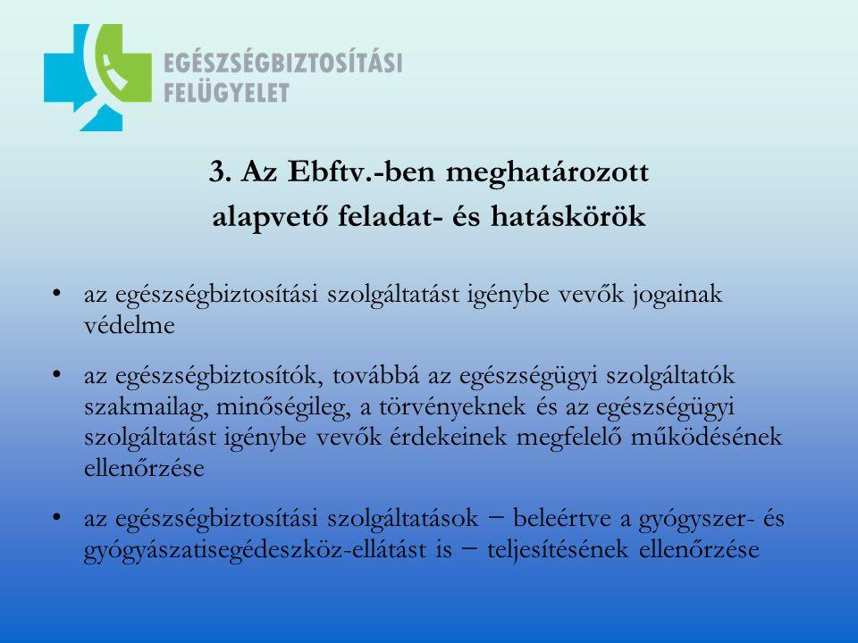 3. Az Ebftv.-ben meghatározott alapvető feladat- és hatáskörök