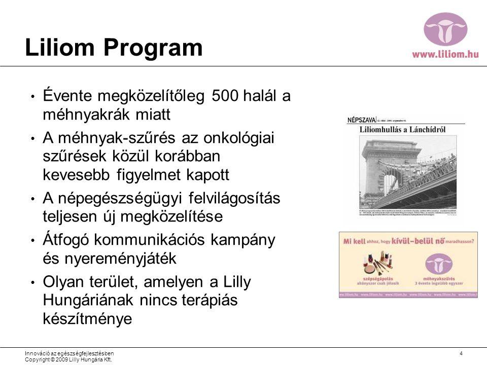 Liliom Program Évente megközelítőleg 500 halál a méhnyakrák miatt