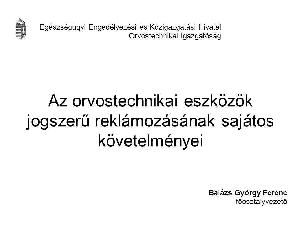 Balázs György Ferenc főosztályvezető