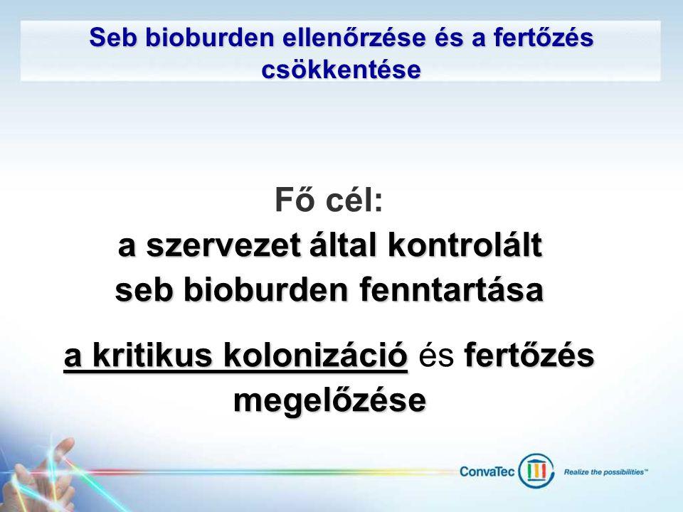 a szervezet által kontrolált seb bioburden fenntartása