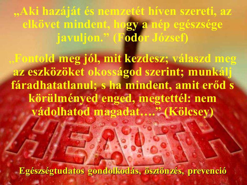 Egészségtudatos gondolkodás, ösztönzés, prevenció