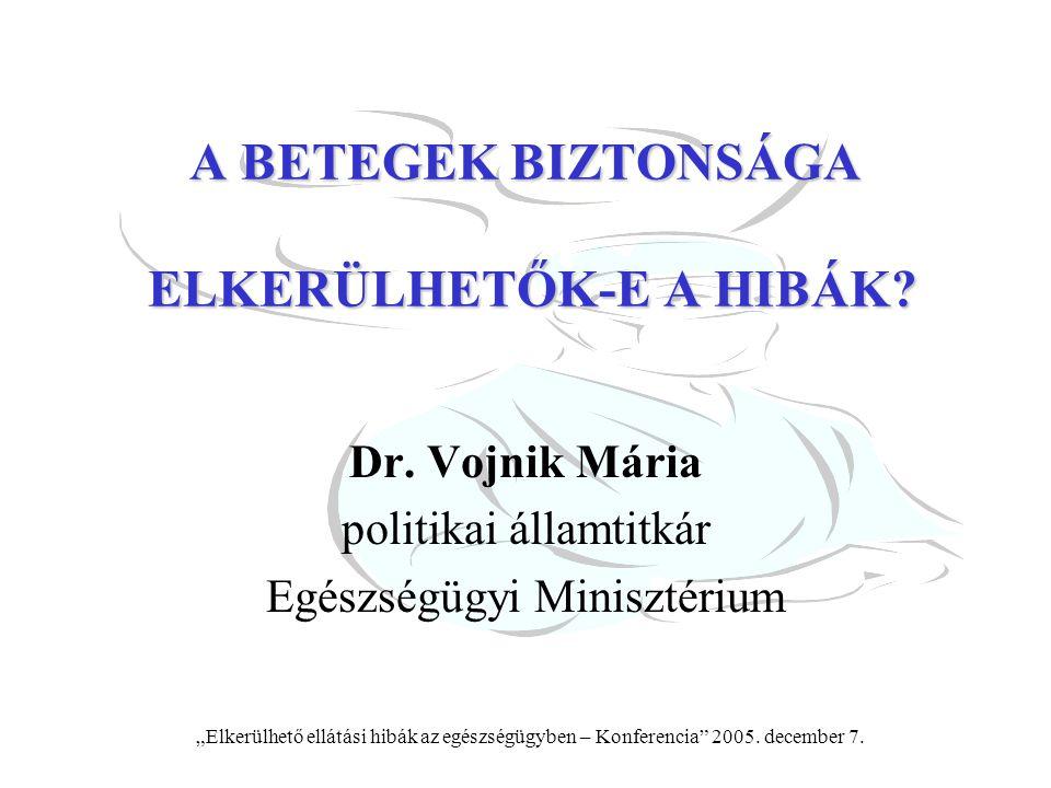 A BETEGEK BIZTONSÁGA ELKERÜLHETŐK-E A HIBÁK