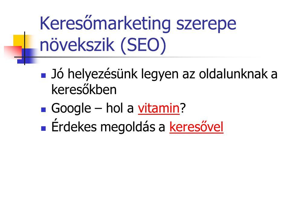 Keresőmarketing szerepe növekszik (SEO)