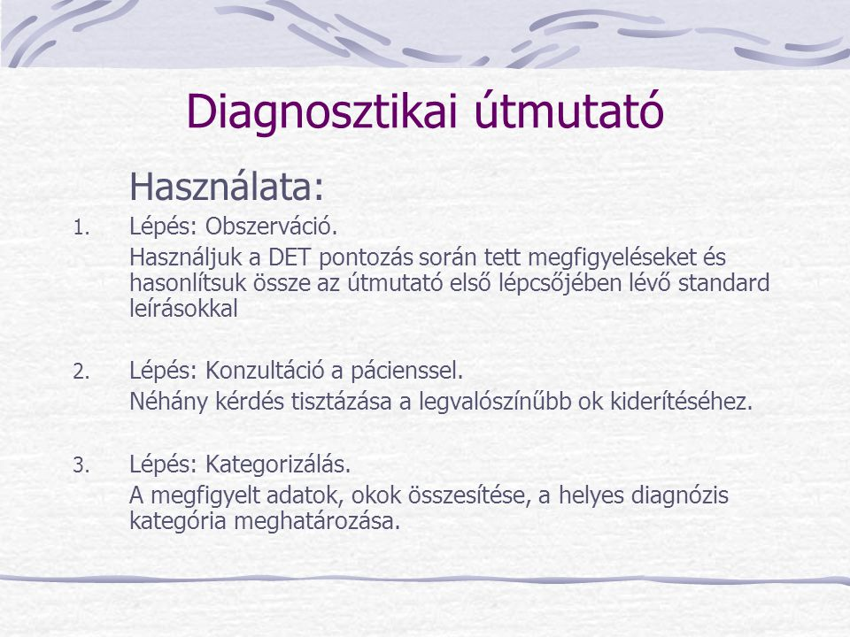 Diagnosztikai útmutató