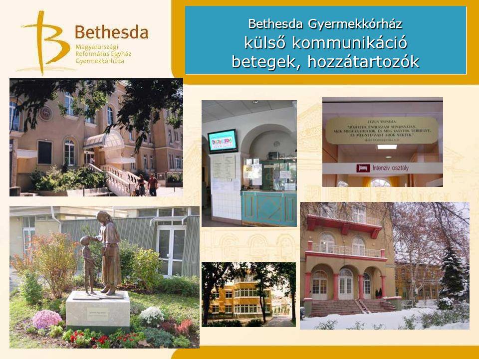Bethesda Gyermekkórház külső kommunikáció betegek, hozzátartozók