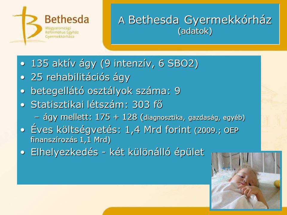 A Bethesda Gyermekkórház (adatok)