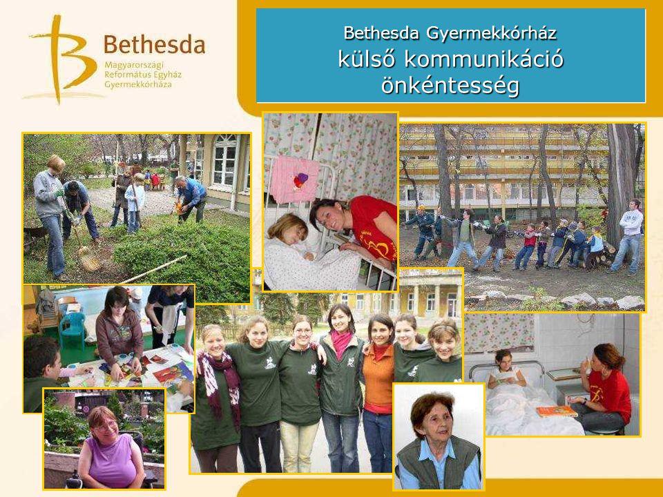 Bethesda Gyermekkórház külső kommunikáció önkéntesség