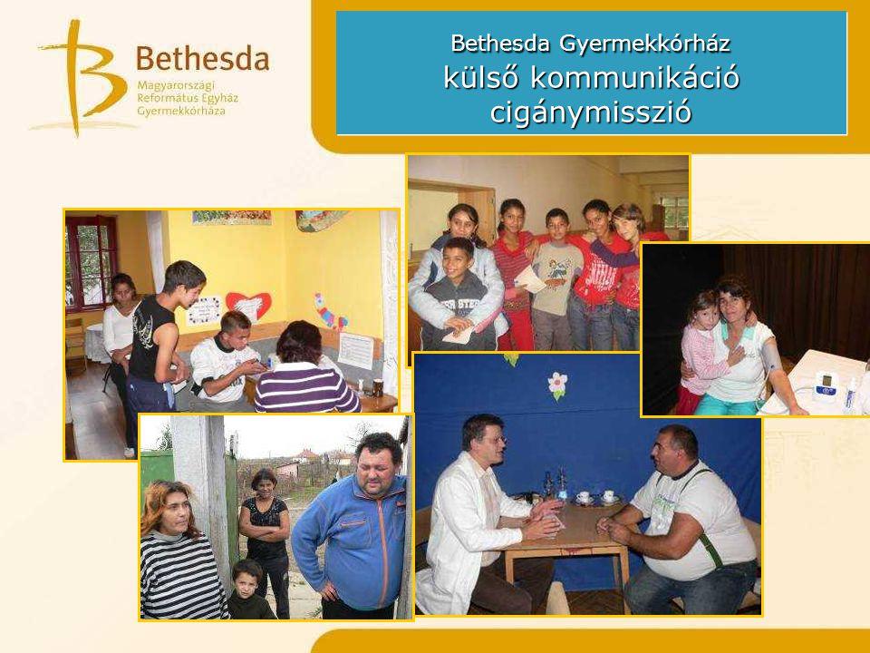 Bethesda Gyermekkórház külső kommunikáció cigánymisszió